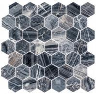 Colonial Series Salem Charcoal CLNL277 Hexagon Tile