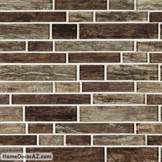 MSI Antico Pewter Interlocking Glass Mosaic SMOT-GLSIL-ANTPEW8MM
