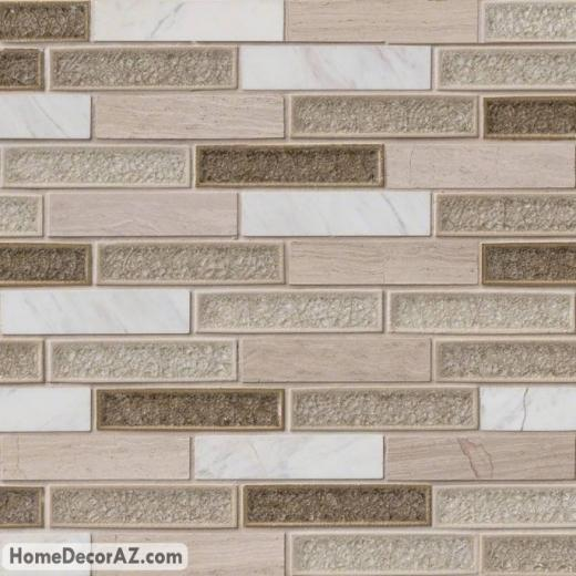 MSI Crystal Cliffs Mosaic Backsplash SMOT-SGLSGG-CC8MM