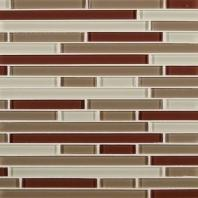 MSI Sedona Blend Interlocking Glass Backsplash SMOT-GLSBIL-SB8MM