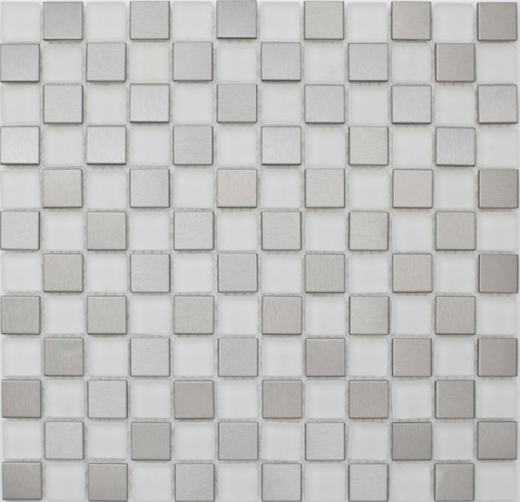 Mosaic Tile Piazza Steel Ice