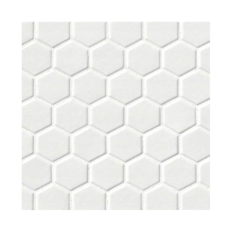 MSI Highland Whisper White Hexagon Tile Backsplash PTWWHEX - Discount hex tile