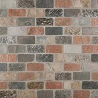 MSI Mixed Slate Brick Tile Backsplash THDW3-SH-MCBRI1X2T