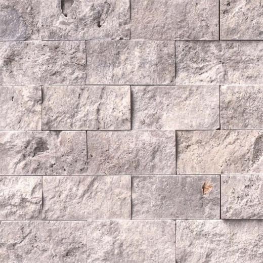 MSI Silver Travertine Tile Backsplash SMOT-SILTRA-2X4SF