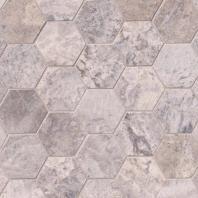 MSI Silver Travertine Hexagon Tile Backsplash SMOT-SILTRA-3HEXH