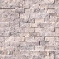 MSI Silver Travertine Split Face Tile Backsplash SMOT-SILTRA-1X2SF