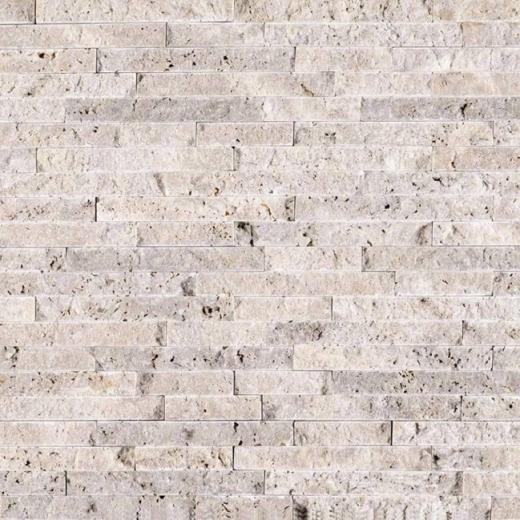 MSI Slver Travertine Splitface Tile Backsplash SMOT-SILTRA-SF10MM