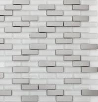 Mosaic Tile Aria Steel Ice