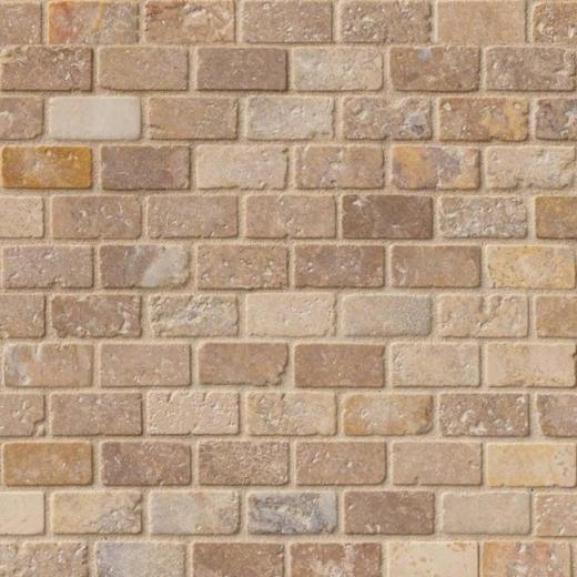 Italian Backsplash Tile: MSI Tuscany Scabas 1x2 Tile Backsplash SMOT-SCAB-1X2T