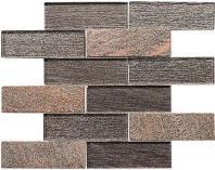 Glasstile Tanglewood Series Tan Ochestra Subway Mosaic Tile TGL873
