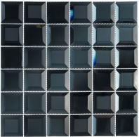 Glasstile Checkers Series Blue Hemisperes Mosaic Tile CKR113