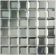 Glasstile Checkers Series Spanish Pearl Mosaic Tile CKR114