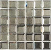 Glasstile Checkers Series Lifting Fog Mosaic Tile CKR115