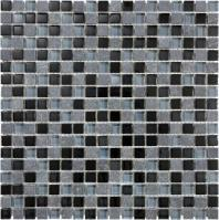 "Bliss 5/8""x5/8"" BLACK TIMBER MOSAIC"
