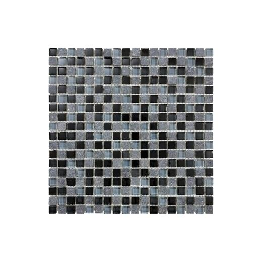 "Bliss 5/8""X5/8"" Black Timber Mosaic AC35-019"