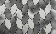 Martini Mosaic Pereta Series Pewter City Hexagon Mosaic Tile MRW1