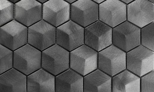 Martini Mosaic Favo Series Titan Metal Hexagon Backsplash