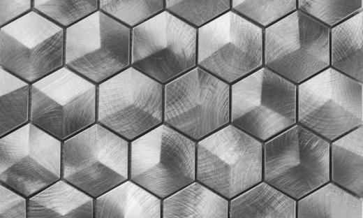 Martini Mosaic Favo Series Apollo Metal Hexagon Backsplash