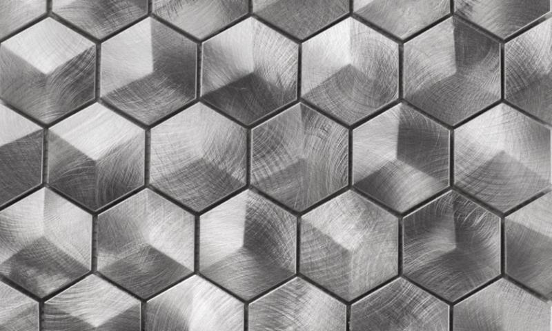 Martini Mosaic Favo Series Apollo Metal Hexagon Backsplash