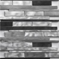 Strada Series Platinum Brush Mosaic Tile MMSG03