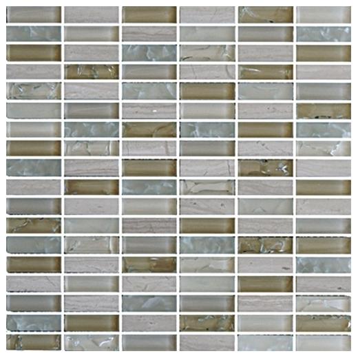 Eleganza Autumn Stacked Mosaic Tile GLB002