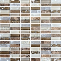 Eleganza Fall Stacked Mosaic Tile GLB003