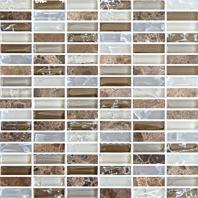 Eleganza Fall Stacked Mosaic Tile GLB003