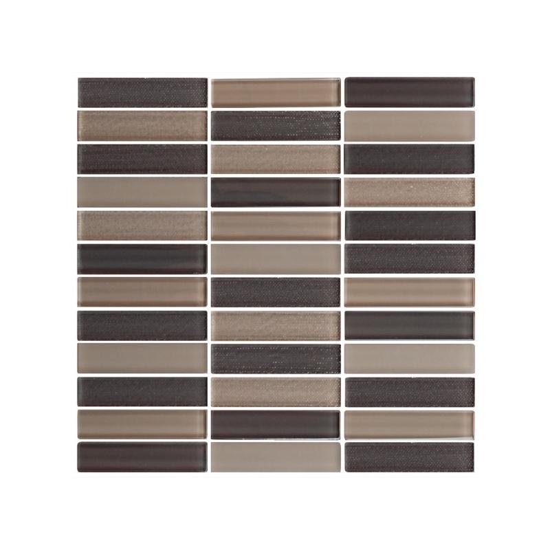 Eleganza Blend Mocha Matte Stacked Mosaic Tile Gl3402