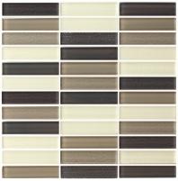 Eleganza Blend Latte Matte Stacked Mosaic Tile GL3401