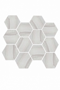 Eleganza Light Gray Matte Marble Look Hexagon Tile YI6S1215-HEX