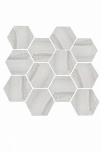 Eleganza Light Gray Matte Marble Look Hexagon Tile YI6S1215-HEX