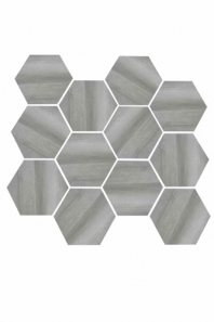 Eleganza Medium Gray Matte Marble Look Hexagon Tile YI6S1214-HEX