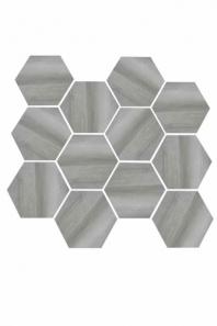 Eleganza Medium Gray Matte Marble Look Hexagon Tile YI6S1214-HEX