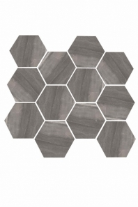 Eleganza Dark Gray Matte Marble Look Hexagon Tile YI6S1217-HEX