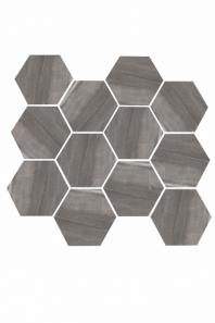 Eleganza Dark Gray Matte Marble Look Hexagon Tile YI6S1217-HEX