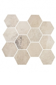 Eleganza White Cloud Matte Concrete Look Hexagon Tile YI6SM1101-HEX