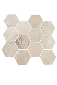 Eleganza White Cloud Matte Concrete Look Hexagon Tile YI6SM1101-HEX