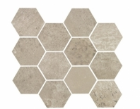 Eleganza Ash Gray Matte Concrete Look Hexagon Tile YI6SM1102-HEX
