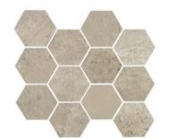 Eleganza Ash Gray Matte Concrete Look Hexagon Tile YI6SM1102-HEX