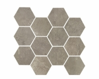 Eleganza Argento Matte Concrete Look Hexagon Tile YI6SM1103-HEX