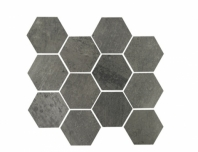 Eleganza Gun Power Matte Concrete Look Hexagon Tile YI6SM1104-HEX