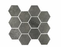 Eleganza Gun Power Matte Concrete Look Hexagon Tile YI6SM1104-HEX