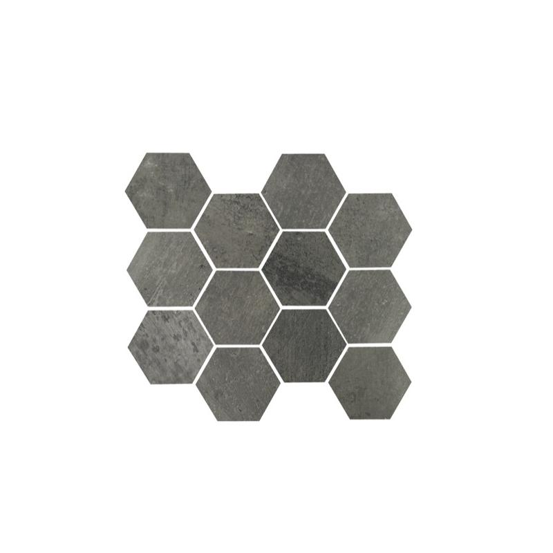 Eleganza Gun Power Matte Concrete Look Hexagon Tile ...