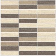 Eleganza Light Blend 1x4 Matte Fabric Look Mosaic Tile GRLBLEND