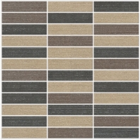 Eleganza Dark Blend 1x4 Matte Fabric Look Mosaic Tile GRDBLEND