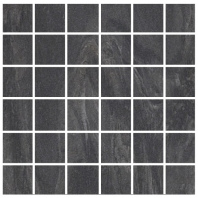 Eleganza Nero 2x2 Semi-Polished Marble Look Mosaic Tile HO-7MS5L