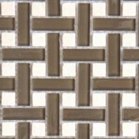 Eleganza Fawn Polished Basketweave Mosaic Tile IMEB409