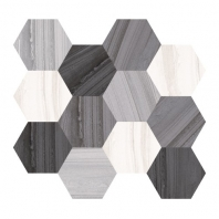 Eleganza Hexagon Blend Marble Look Hexagon Tile C36MIX-H