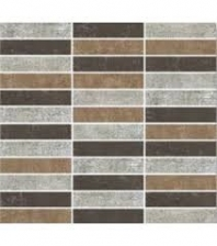 Eleganza 1x4 Dark Blend Concrete Look Mosaic Tile LOFTDARKBLEND