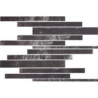 Eleganza Black Subway Metal Look Border MET-BLCK-SUB-BRDR